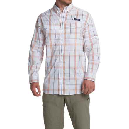 Columbia Sportswear Super Low Drag Shirt - Omni-Wick®, UPF 40, Long Sleeve (For Men) in Vivid Blue Plaid - Closeouts