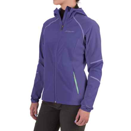 Columbia Sportswear Sweet As II Soft Shell Hoodie Jacket (For Women) in Purple Lotus - Closeouts