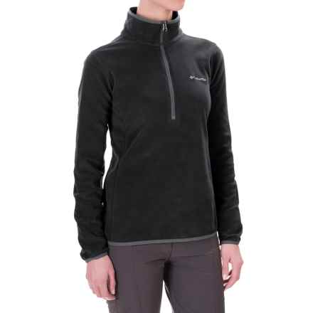 Columbia Sportswear Swift Current Pass Fleece Shirt - Zip Neck, Long Sleeve (For Women) in Black/Graphite - Closeouts