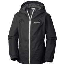 Columbia Sportswear Switchback Rain Coat (For Little and Big Girls) in Black - Closeouts