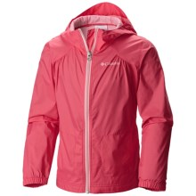 Columbia Sportswear Switchback Rain Coat (For Little and Big Girls) in Bright Geranium - Closeouts