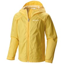 Columbia Sportswear Switchback Rain Coat (For Little and Big Girls) in Buttercup - Closeouts