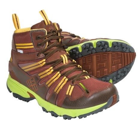 Columbia Sportswear Talus Ridge Mid OutDry® Hiking Boots - Waterproof (For Women) in Bombay Brown/Lime Green