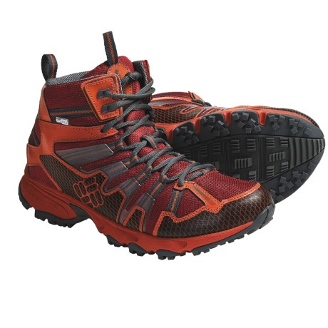 Columbia Sportswear Talus Ridge Outdry® Mid Hiking Boots - Waterproof (For Men) in Chili Pepper/Castlerock