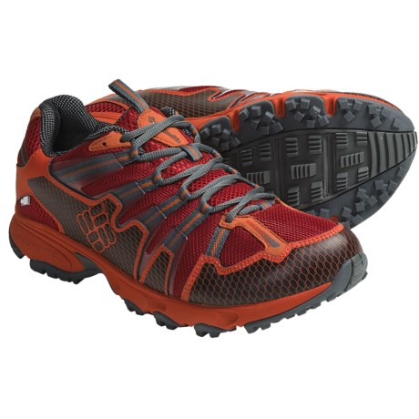 Columbia Sportswear Talus Ridge OutDry® Trail Running Shoes - Waterproof (For Men) in Chili Pepper/Black