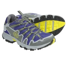 Columbia Sportswear Talus Ridge OutDry® Trail Running Shoes - Waterproof (For Women) in Clematis Blue/Chartreuse - Closeouts