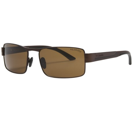Columbia Sportswear Talus Sunglasses - Polarized in Matte Brown/Brown