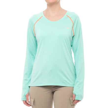 Columbia Sportswear Tamiami Heather Knit Shirt - UPF 50, Long Sleeve (For Women) in Pixie Heather/Koi