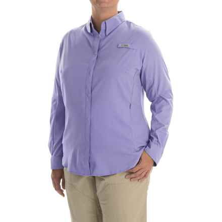 Columbia Sportswear Tamiami II Shirt - Plus Size, Long Sleeve (For Women) in Whitened Violet - Closeouts