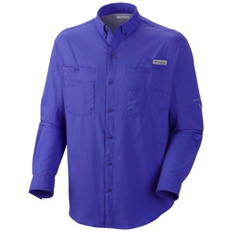 Columbia Sportswear Tamiami II Shirt - UPF 40, Long Sleeve (For Men) in Purple Lotus