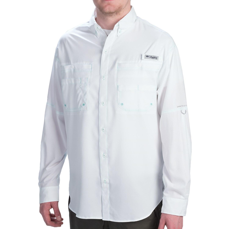 Columbia sportswear tamiami ii shirt upf 40 long sleeve for Men s upf long sleeve shirt