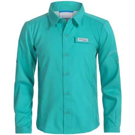 Columbia Sportswear Tamiami Shirt - Omni-Wick®, UPF 40, Long Sleeve (For Big Girls) in Miami - Closeouts