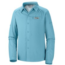 Columbia Sportswear Tamiami Shirt - UPF 40, Long Sleeve (For Little and Big Girls) in Clear Blue - Closeouts
