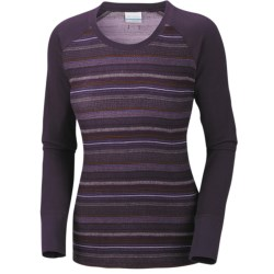 Columbia Sportswear Taylor Trail Shirt - Crew Neck, Long Sleeve (For Women) in Dark Plum Pattern Mix