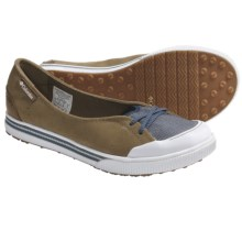 Columbia Sportswear Teagan Shoes - Slip-On (For Women) in Dune/Sea Blue - Closeouts