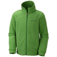 Columbia Sportswear TechMatic Fleece Jacket (For Boys) in Clean Green - Closeouts