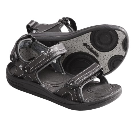 Columbia Sportswear Techsun 3-Strap Sandals (For Kids) in Black/Wild Dove