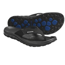 Columbia Sportswear Techsun H2O Sandals - Flip-Flops (For Men) in Black/Electric Avenue - Closeouts