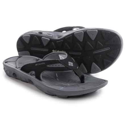 Columbia Sportswear Techsun Vent Flip-Flops (For Men) in Black/Charcoal - Closeouts