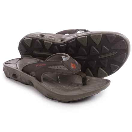 Columbia Sportswear Techsun Vent Flip-Flops (For Men) in Cordovan/Gypsy - Closeouts
