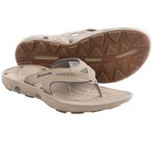 Columbia Sportswear Techsun Vent Flip Leather PFG Sandals (For Men) in Bluff/Collegiate Navy - Closeouts