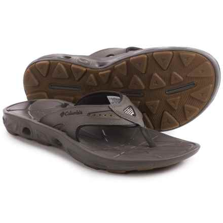 Columbia Sportswear Techsun Vent Flip Leather PFG Sandals (For Men) in Mud/Stout - Closeouts