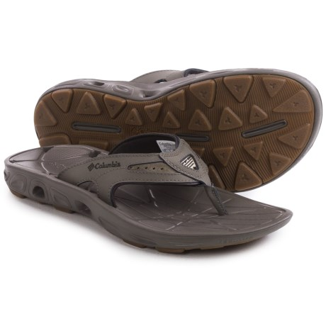 Columbia Sportswear Techsun Vent Flip Leather PFG Sandals (For Men) in Mud/Stout