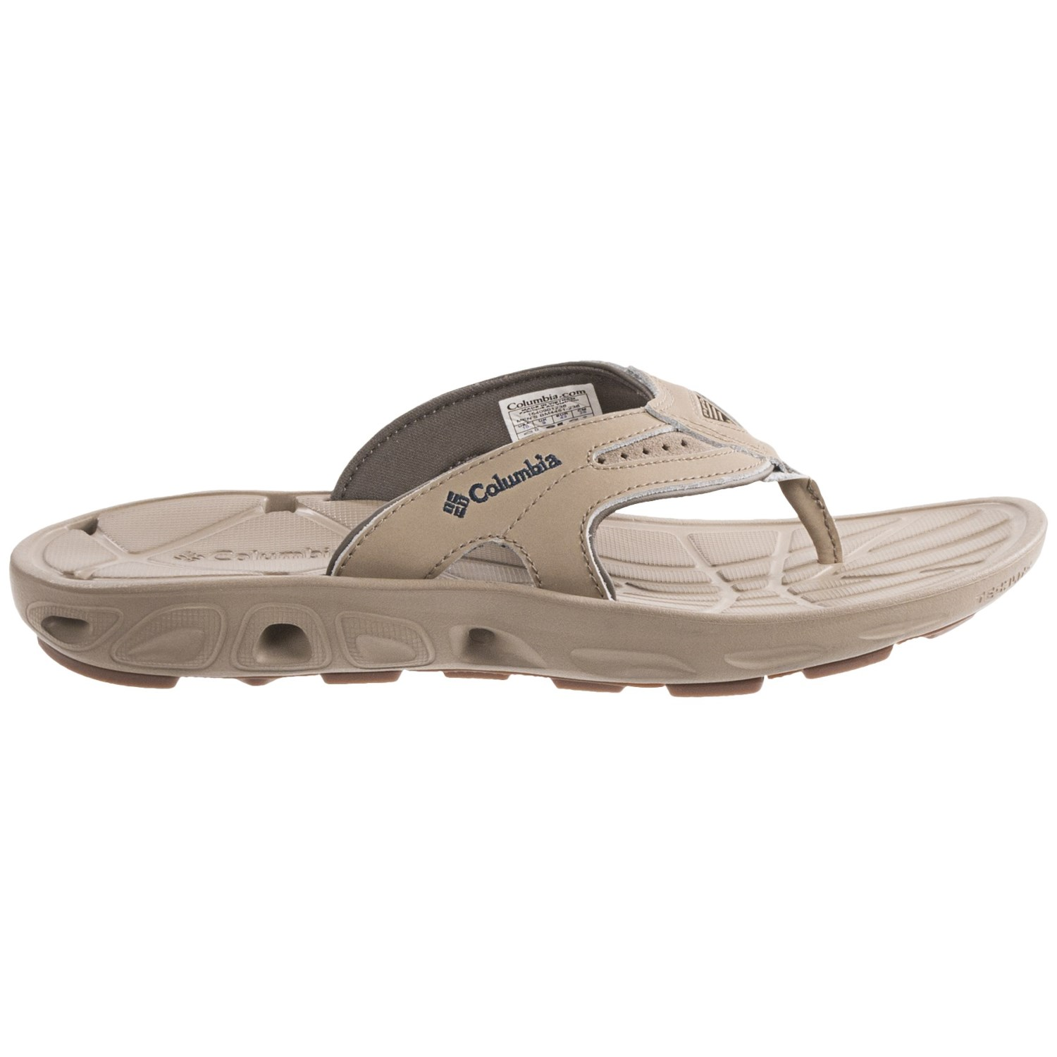 Columbia sportswear techsun vent flip leather pfg sandals for Columbia fishing shoes