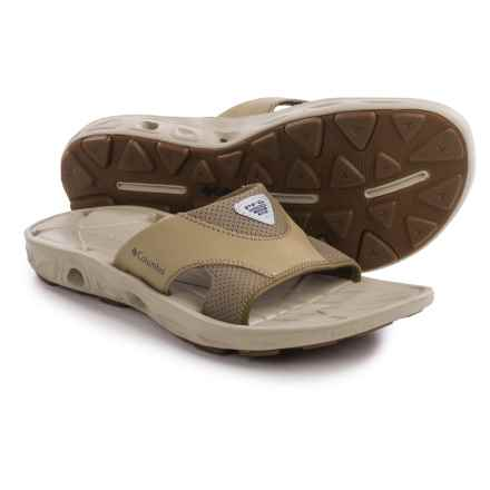 Columbia Sportswear Techsun Vent Slide PFG Sandals (For Men) in British Tan/Khaki Mhw - Closeouts