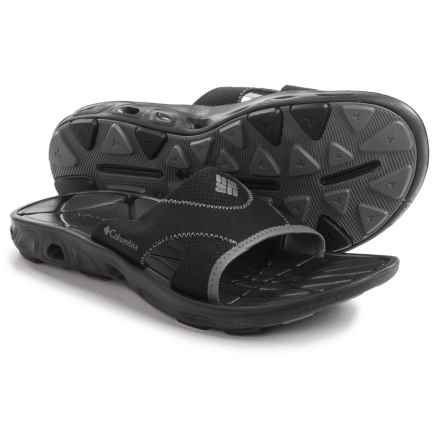 Columbia Sportswear Techsun Vent Slide Sandals (For Men) in Black/Charcoal - Closeouts