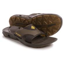 Columbia Sportswear Techsun Vent Slide Sandals (For Men) in Cordovan/Squash - Closeouts