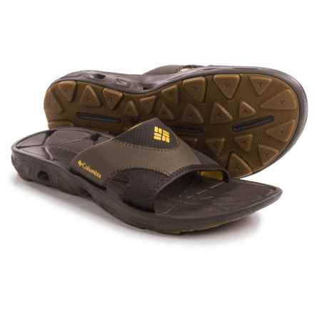 Columbia Sportswear Techsun Vent Slide Sandals (For Men) in Cordovan/Squash - Closeouts