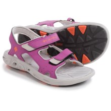 Columbia Sportswear Techsun Vent Sport Sandals (For Little and Big Kids) in Foxglove/Coral Flame - Closeouts