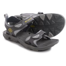 Columbia Sportswear Techsun Vent Sport Sandals (For Men) in Charcoal/Yellow Curry - Closeouts