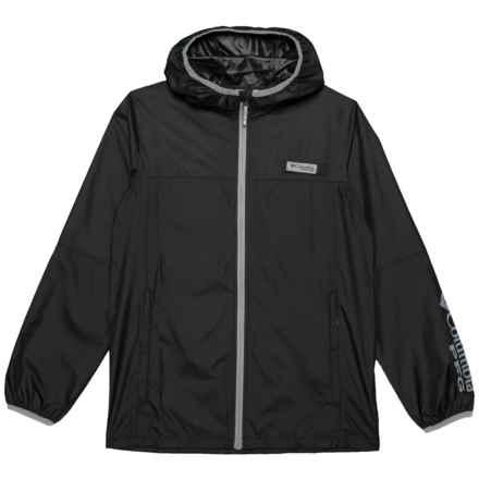 Columbia Sportswear Terminal Spray Omni-Shade® Windbreaker Jacket - UPF 40 (For Little and Big Kids) in Black