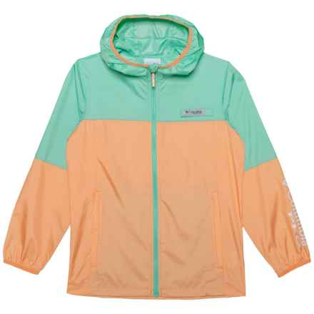 Columbia Sportswear Terminal Spray Omni-Shade® Windbreaker Jacket - UPF 40 (For Little and Big Kids) in Light Juice, Pixie