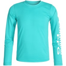 Columbia Sportswear Terminal Tackle Omni-Wick® T-Shirt - UPF 50+, Long Sleeve (For Little and Big Boys) in Opal Blue - Closeouts