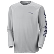 Columbia Sportswear Terminal Tackle Shirt - UPF 50, Long Sleeve (For Men) in Cool Grey Nightshade Logo - Closeouts