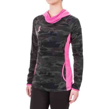 Columbia Sportswear Tested Tough in Pink Fleece Hoodie (For Women) in Black Camo - Closeouts