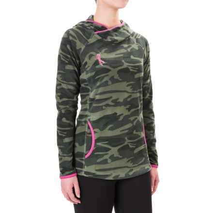 Columbia Sportswear Tested Tough in Pink Fleece Hoodie (For Women) in Cypress Camo - Closeouts
