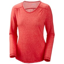 Columbia Sportswear Thistle Ridge T-Shirt - Jersey, Long Sleeve (For Women) in Red Hibiscus Heather - Closeouts