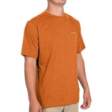 Columbia Sportswear Thistletown Park Crew Shirt - Short Sleeve (For Men) in Backcountry Orange Heather - Closeouts