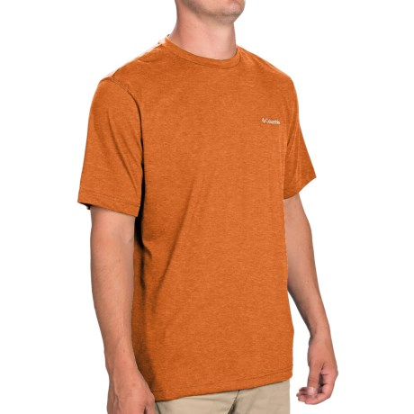 Columbia Sportswear Thistletown Park Crew Shirt - Short Sleeve (For Men) in Backcountry Orange Heather
