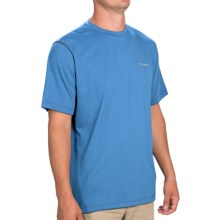 Columbia Sportswear Thistletown Park Crew Shirt - Short Sleeve (For Men) in Hyper Blue Heather - Closeouts