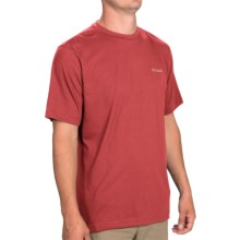 Columbia Sportswear Thistletown Park Crew Shirt - Short Sleeve (For Men) in Sunset Red - Closeouts