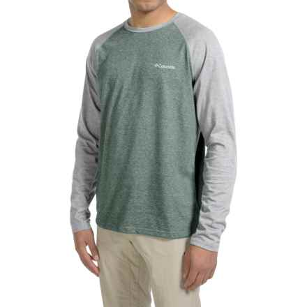 Columbia Sportswear Thistletown Park Omni-Wick® Shirt - UPF 15, Long Sleeve (For Men) in Pond Heather/Grey Ash Heather - Closeouts