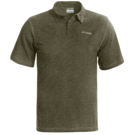 Columbia Sportswear Thistletown Park Polo Shirt - Short Sleeve (For Men) in Surplus Green Heather