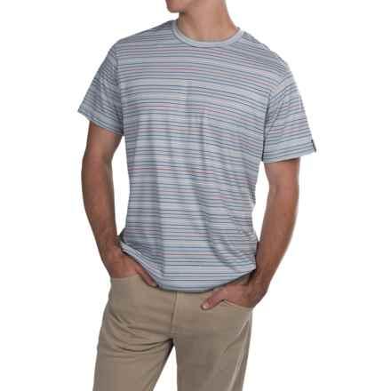 Columbia Sportswear Thistletown Park Stripe T-Shirt - Omni-Wick®, UPF 15, Short Sleeve (For Men) in Cirrus Grey - Closeouts