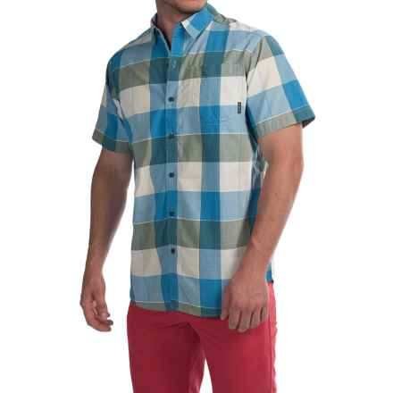 Columbia Sportswear Thompson Hill II Yarn-Dye Shirt - Short Sleeve (For Men) in Blue Sky Large Plaid - Closeouts