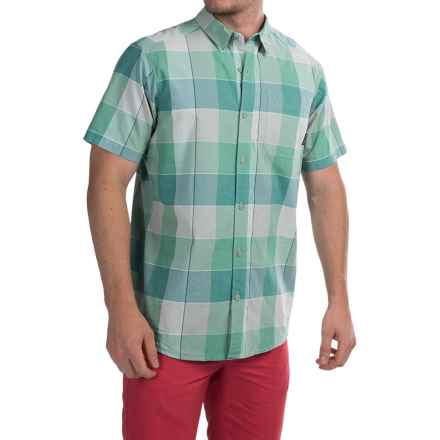 Columbia Sportswear Thompson Hill II Yarn-Dye Shirt - Short Sleeve (For Men) in Gemstone Large Plaid - Closeouts